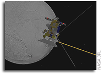 Taking the Plunge: Cassini Soars by Enceladus