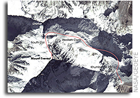 NASA Earth Observatory Image of the Day: Edmund Hillary's Everest Route