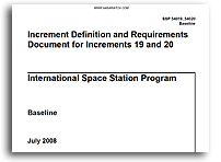 NASA ISS Increment Definition and Requirements Document for Increments 19 and 20