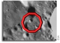 SMART-1 Maps Kaguya Lunar Impact Location