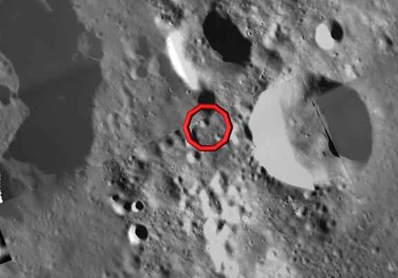 SMART1 Maps Kaguya Lunar Impact Location  SpaceRef