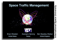 Space University Report Offers Ways  To Avoid Further Satellite Collisions