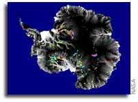 Map Characterizes Active Lakes Below Antarctic Ice