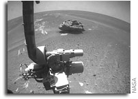 Possible Meteorite Imaged by Opportunity Rover on Mars