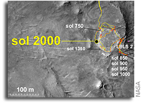 Mars Rover Spirit Hits 2,000 Sols