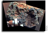 'Block Island' Meteorite on Mars, Sol 1961 (False Color)
