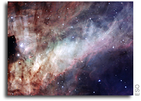 New Portrait of Omega Nebula's Glistening Watercolours