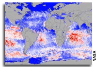 NASA Satellite Detects Red Glow to Map Global Ocean Plant Health