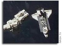 Space Shuttle Atlantis Docks to International Space Station