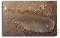 New Image of Mars's Mysterious Elongated Crater