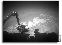 NASA Mars Rover Opportunity Studies Interesting Rocks