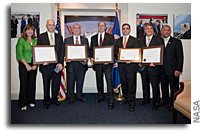 President Obama and NASA Administrator Bolden Recognize Employees for Roles in Chilean Miner Rescue