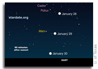Mars at its Best on January 29