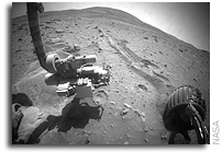 NASA Mars Spirit Rover: Toe-In Maneuver Before Drive