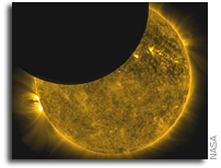 NASA's SDO Observes First Lunar Transit
