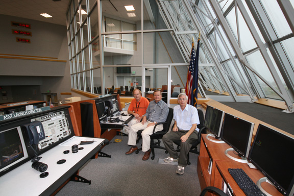 Inside space shuttle launch