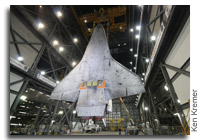 Space Shuttle Discovery is Hoisted and Mated to the External Fuel Tank
