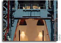 Static testing of L110 liquid core stage of GSLV- MkIII launch vehicle conducted