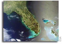Straits of Florida As Seen From Orbit by Envisat