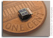 Millimeter-scale, energy-harvesting sensor system developed