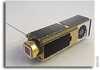 NASA Ejects NanoSail-D Nanosatellite From Microsatellite in Space