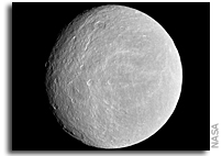 Cassini Finds Ethereal Atmosphere at Rhea
