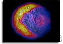 High Resolution Temperature Map of Mimas Released