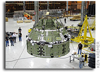 NASA's Pioneer Orion Capsule Starts Its Test Phase