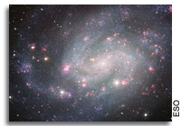 European Southern Observatory Releases Spectacular Images of Spiral Galaxy NGC 300
