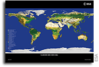 ESA unveils latest map of world's land cover 