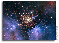 Hubble Image: Starburst Cluster Shows Celestial Fireworks