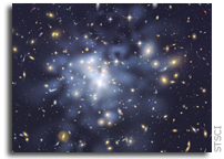 Dark Matter Map Yields Clues to Galaxy Cluster Growth