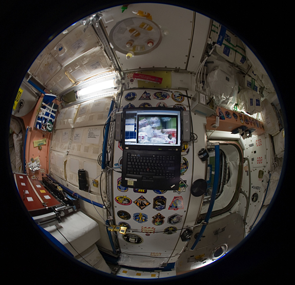 Inside space station