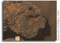 Three Close-ups of Meteorite 'Oilean Ruaidh' by Mars Rover Opportunity