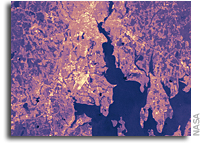 Satellites Pinpoint Drivers of Urban Heat Islands in the Northeast