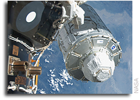 Shuttle Crew Completes First STS-130 Spacewalk
