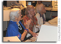 Centenarians Participate in Challenger Learning Center Mission