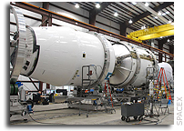 SpaceX Announces Final Arrival of Falcon 9 Flight Hardware at Cape Canaveral in Preparation for Inaugural Launch