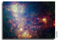 NASA Spitzer Image Reveals Galaxies Dusty Inner Workings
