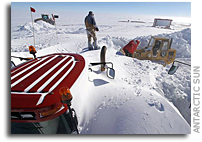 Perfect storm: Snow buries South Pole traverse before tractor train reaches 90 South