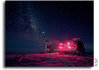 Photo: Antarctic Telescopes and the Milky Way