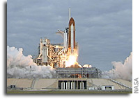 Liftoff of Space Shuttle Endeavour
