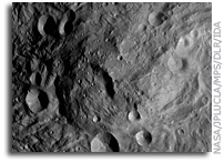 Dawn Image of Asteroid Vesta:  Central Mound at the South Pole