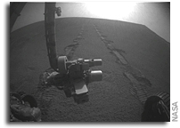 Mars Rover Opportunity Continues to Explore Santa Maria Crater