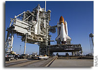 NASA's Shuttle Endeavour At Launch Pad, Liftoff Practice Set