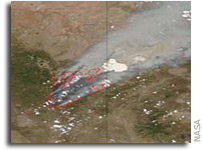 MODIS Image: Smoke from the Wallow North fire, Arizona