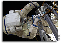 Photo: Cosmonauts Conduct Spacewalk