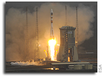 Soyuz flight VS01 Lifts Off From French Guiana - Video