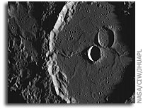 MESSENGER Image of Mercury: Machaut Crater