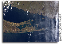 Photo: Montauk, The Hamptons, and New London As Seen From the International Space Station